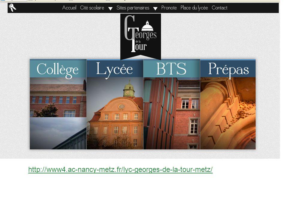 1 Octobre 2012 ! http://www4.ac-nancy-metz.fr/lyc-georges-de-la-tour-metz/