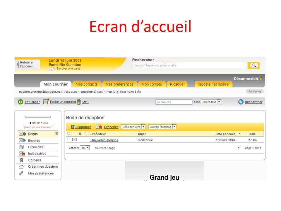 Ecran daccueil