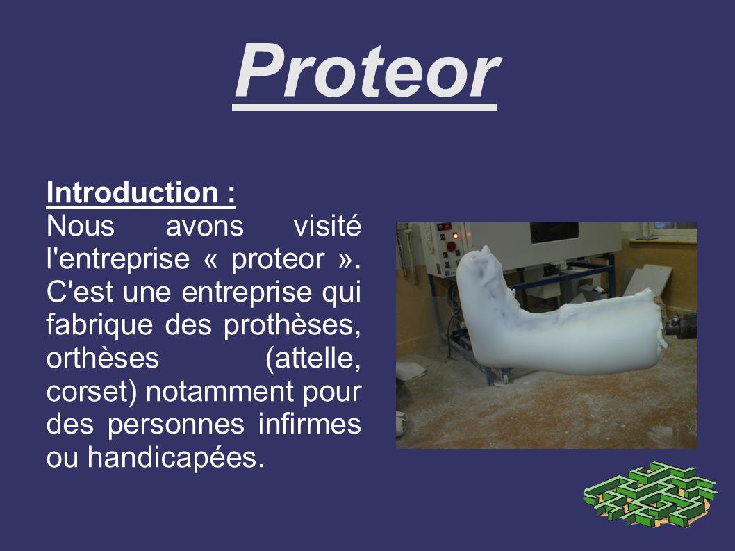 Introduction : Nous avons visité l entreprise « proteor ».