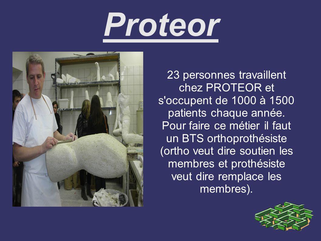 Proteor 23 personnes travaillent chez PROTEOR et s occupent de 1000 à 1500 patients chaque année.