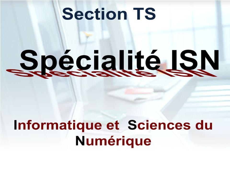 Présentation de la Spécialité SIN Système d Information et Numérique STI2D : Sciences et Technologies de l Industrie et du Développement Durable