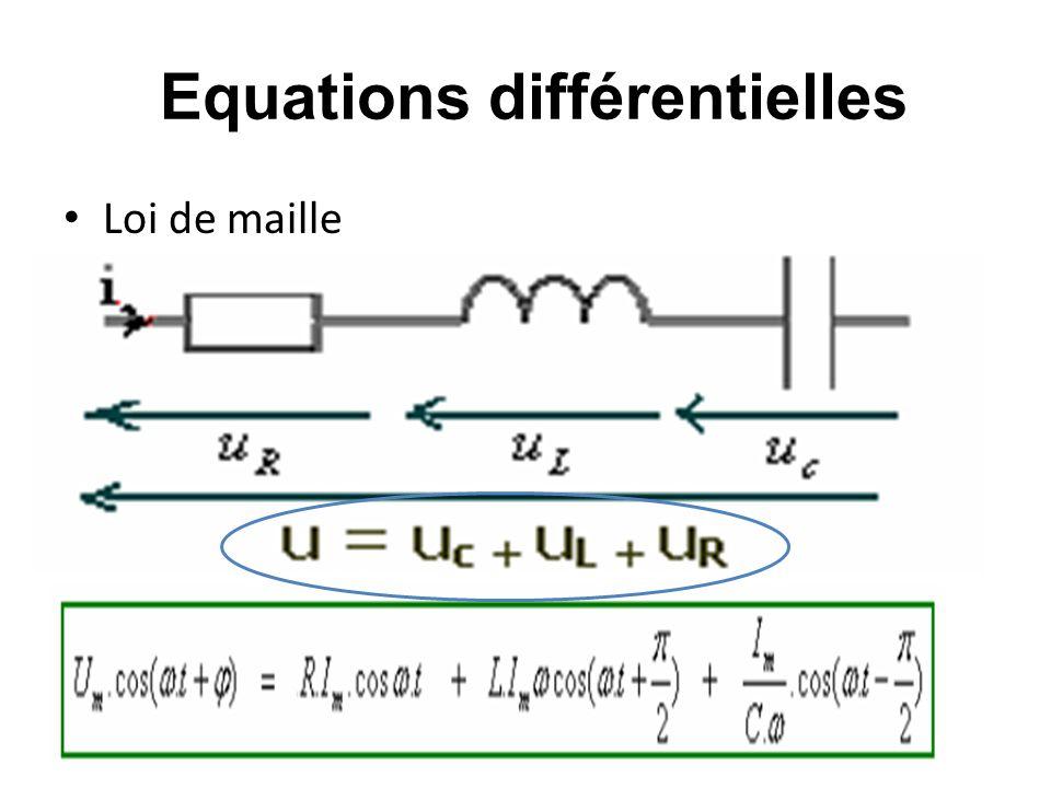 Equations différentielles Loi de maille