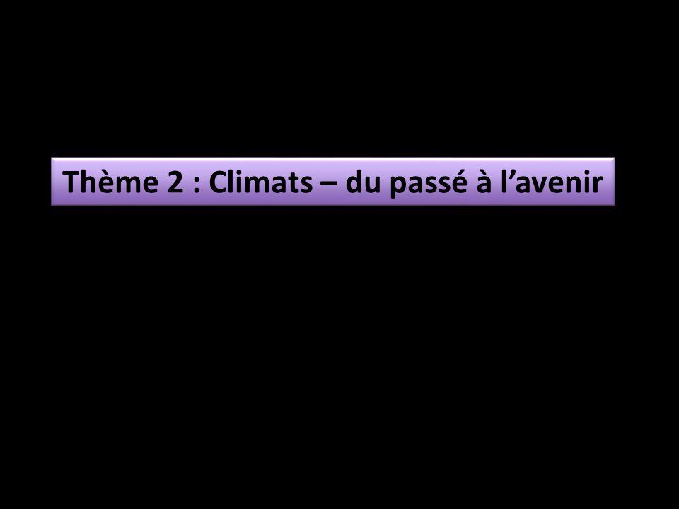 Thème 2 : Climats – du passé à lavenir