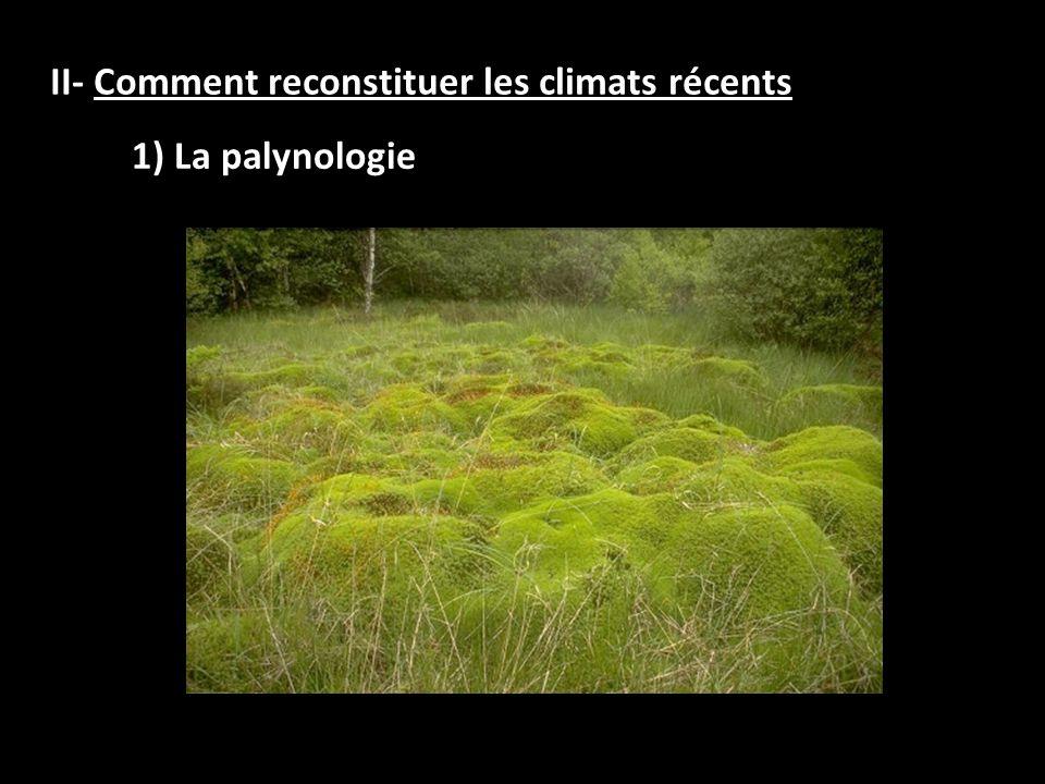 II- Comment reconstituer les climats récents 1) La palynologie