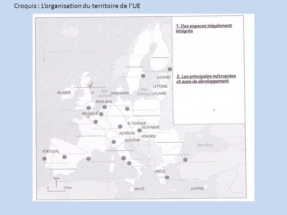 Croquis : Lorganisation du territoire de lUE
