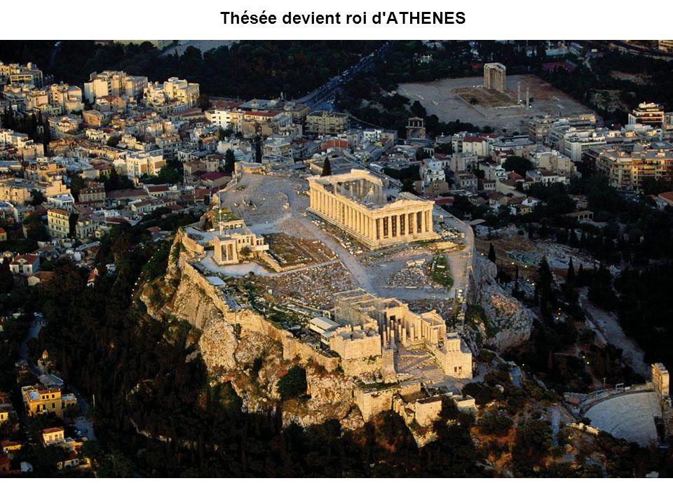 Thésée devient roi d'ATHENES