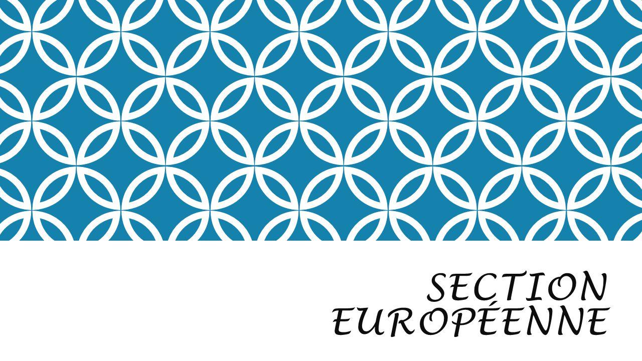 SECTION EUROPÉENNE