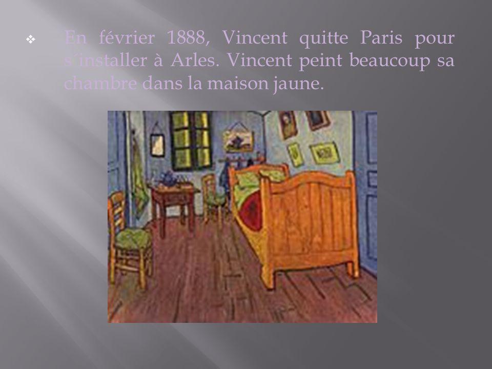 Vincent s´installe à Paris six ans plus tard et y reste deux ans. Il réalise 24 autoportraits.