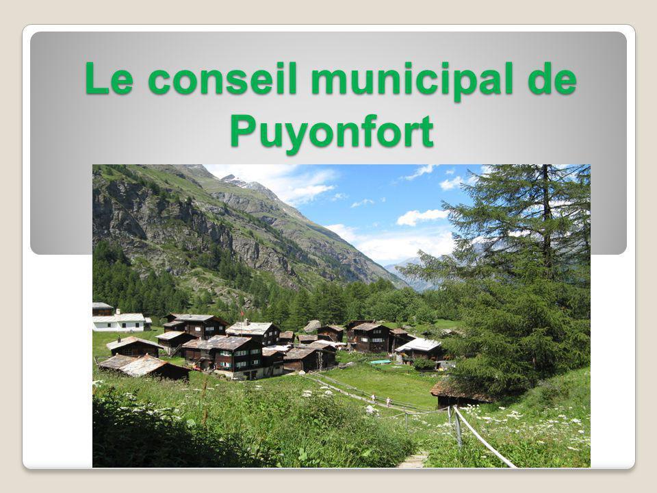 Le conseil municipal de Puyonfort