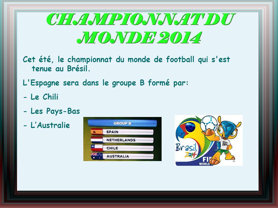 CHAMPIONNAT DU MONDE 2014 Cet été, le championnat du monde de football qui s est tenue au Brésil.