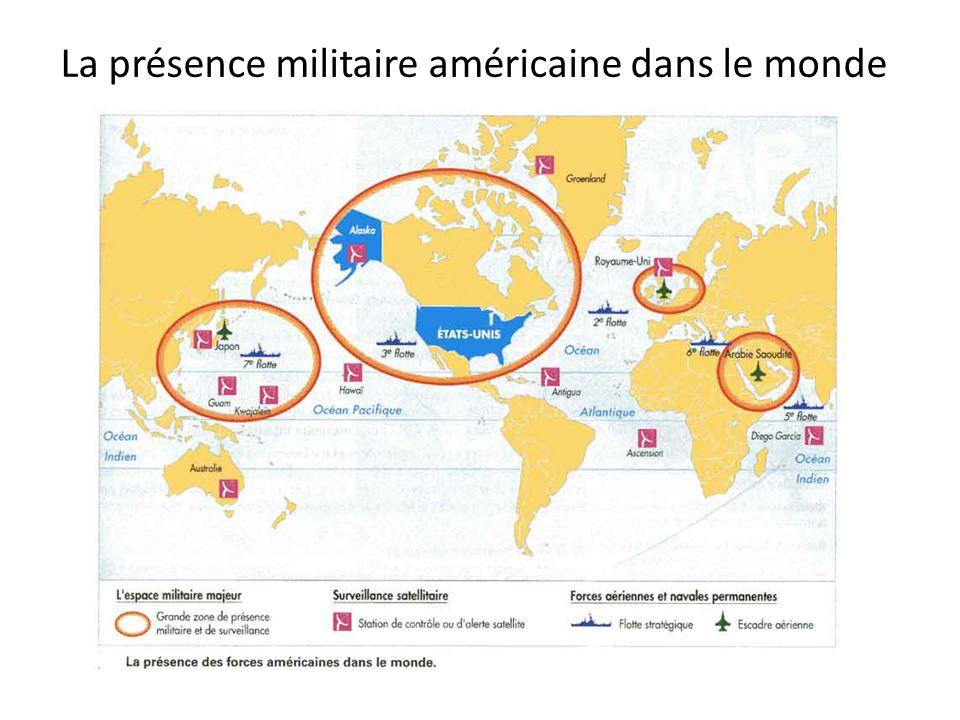 La présence militaire américaine dans le monde