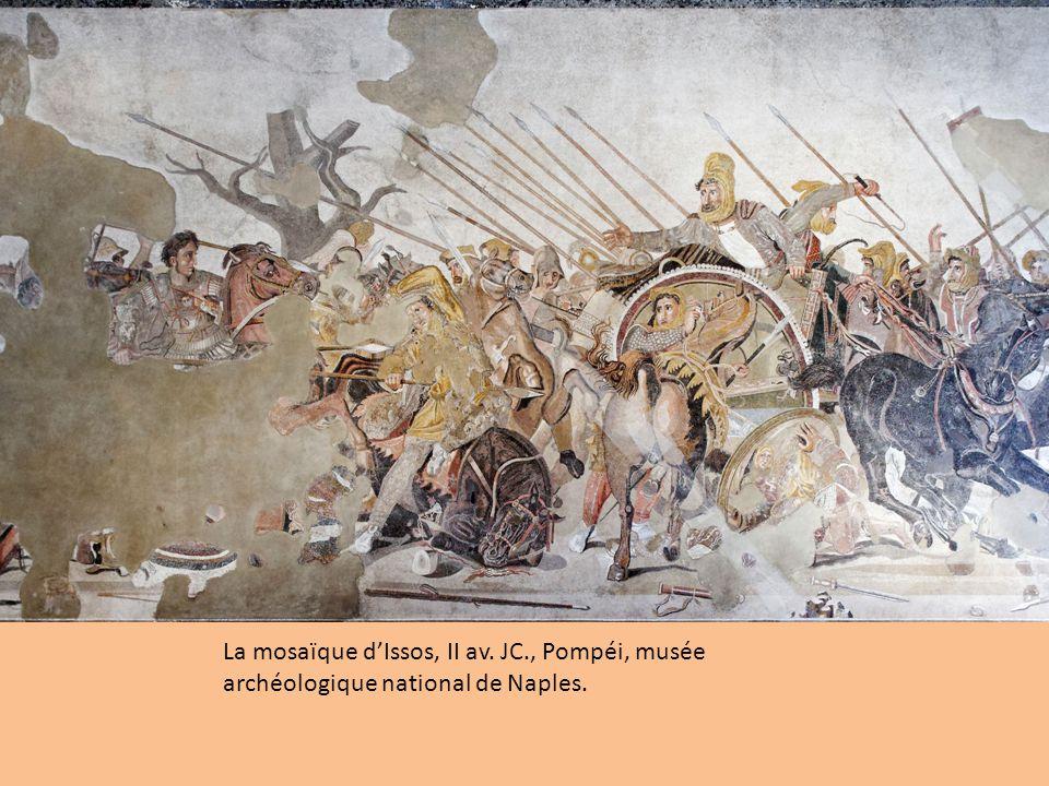 La mosaïque dIssos, II av. JC., Pompéi, musée archéologique national de Naples.