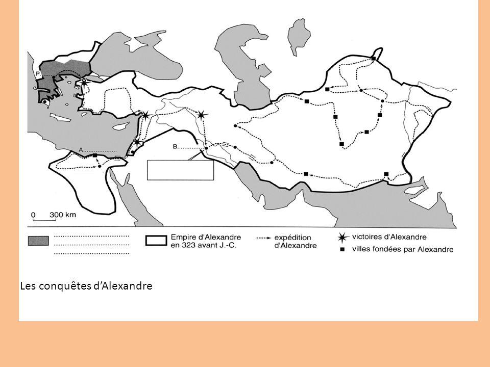 Manuel p 64: étude des conquêtes dAlexandre.1 Quelle est la nature du document.