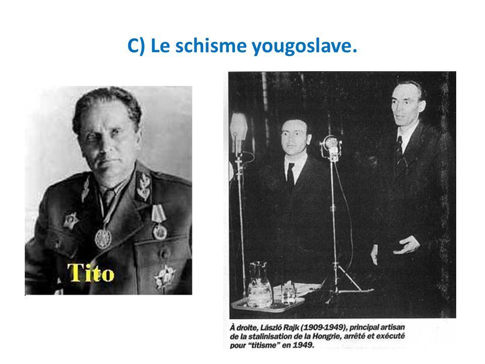 C) Le schisme yougoslave.
