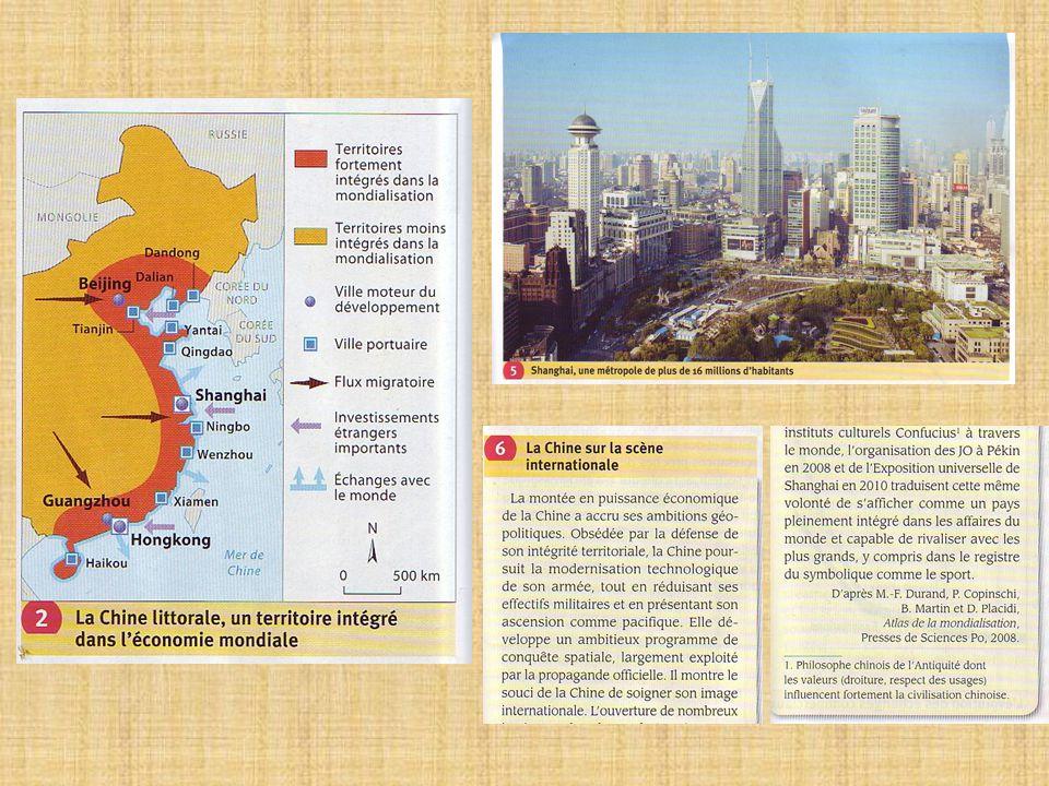 - Les succès économiques de la Chine lui permettent de nourrir des ambitions internationales.