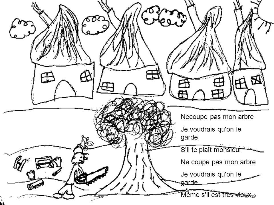 Les grands troncs débités Les maisons qui s'ajoutent Les passants la forêt…