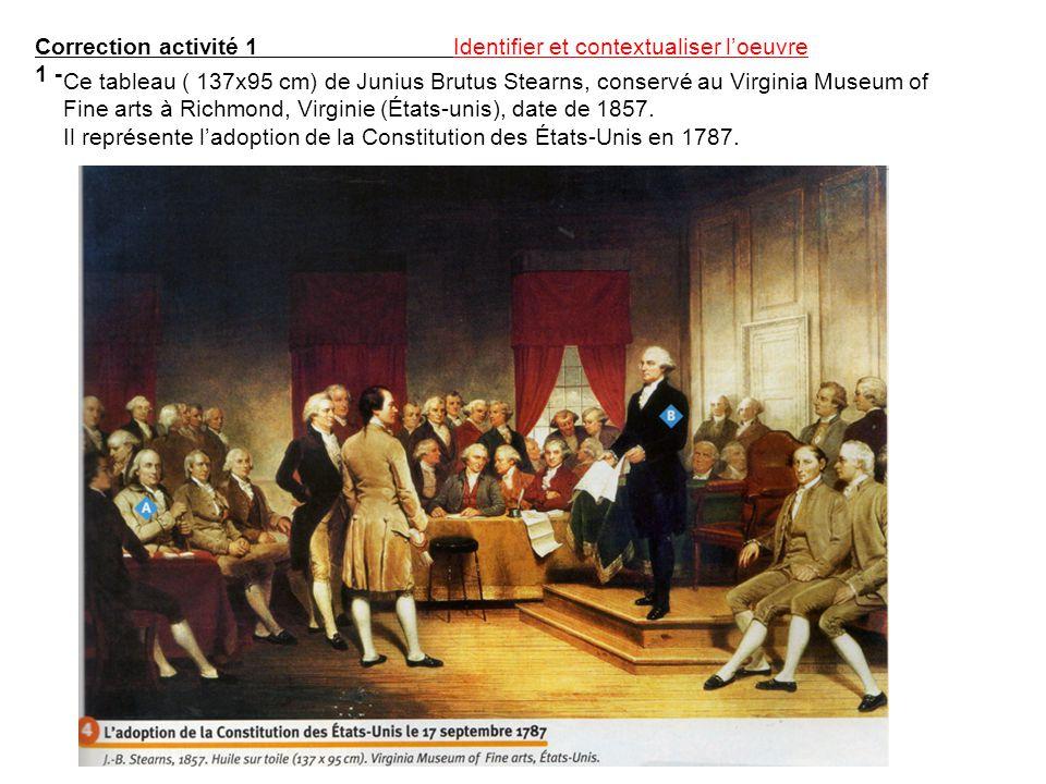 Rappels Doc : La Constitution américaine ( schéma ou extrait) LÉtude de la Constitution américaine de 1787 ou de certains extraits doit mettre en valeur les principales originalités de ce texte.