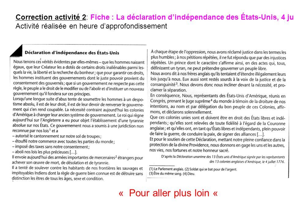 1 * Quels sont les auteurs de la Déclaration dindépendance .