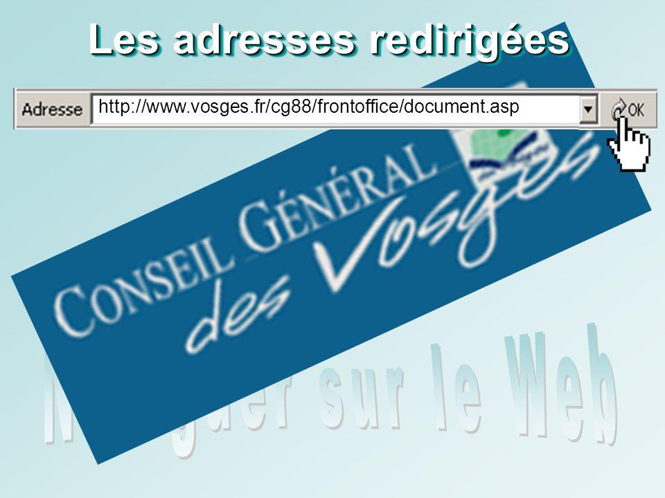 http://www.vosges.fr/ cg88/frontoffice/document.asp Les adresses redirigées