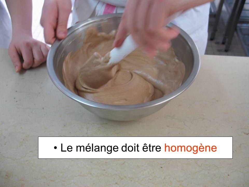 Le mélange doit être homogène