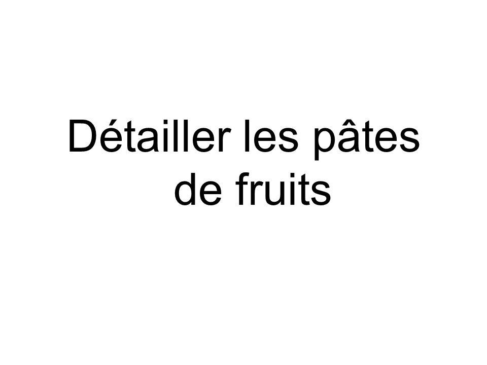 Détailler les pâtes de fruits
