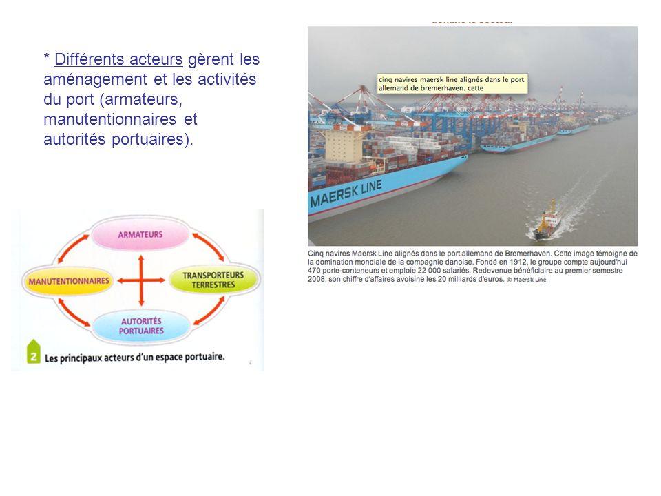 - Les aménagements des littoraux industrialo - portuaires.