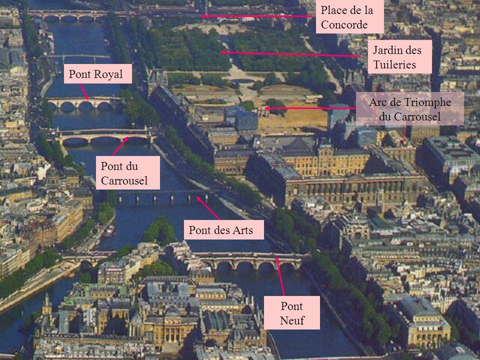 Arc de Triomphe du Carrousel La Pyramide du Louvre La Samaritaine Musée dOrsay Le Louvre