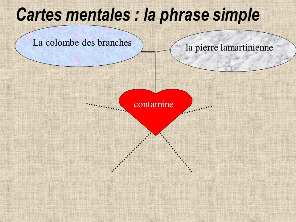 contamine La colombe des branches la pierre lamartinienne Cartes mentales : la phrase simple