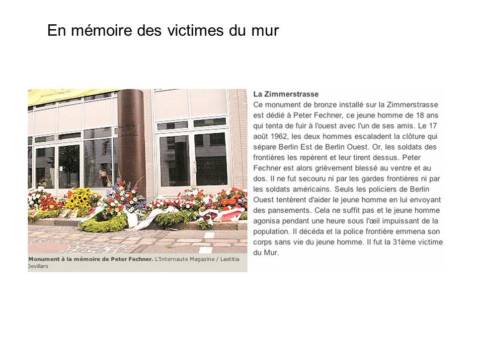 En mémoire des victimes du mur