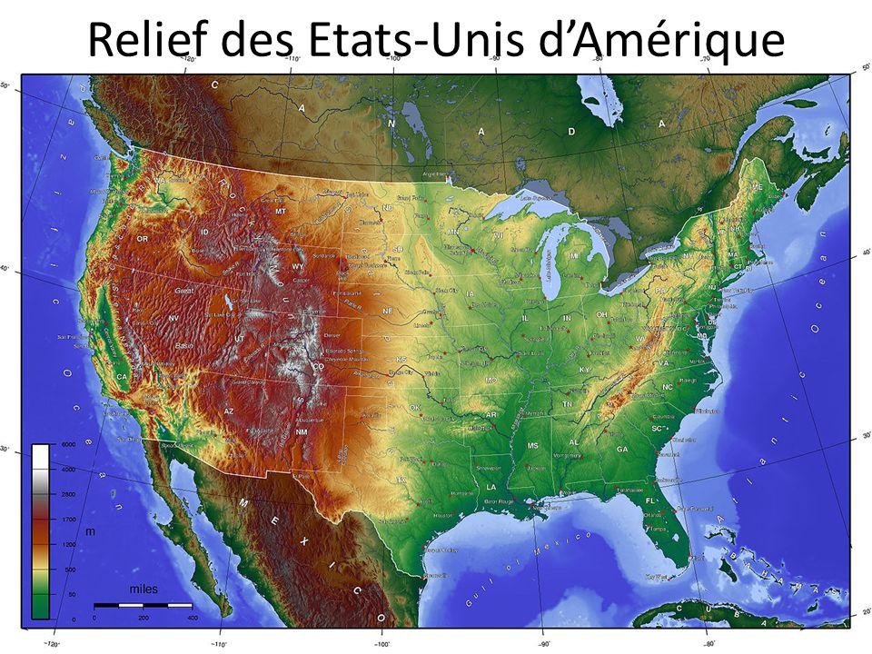 Relief des Etats-Unis dAmérique