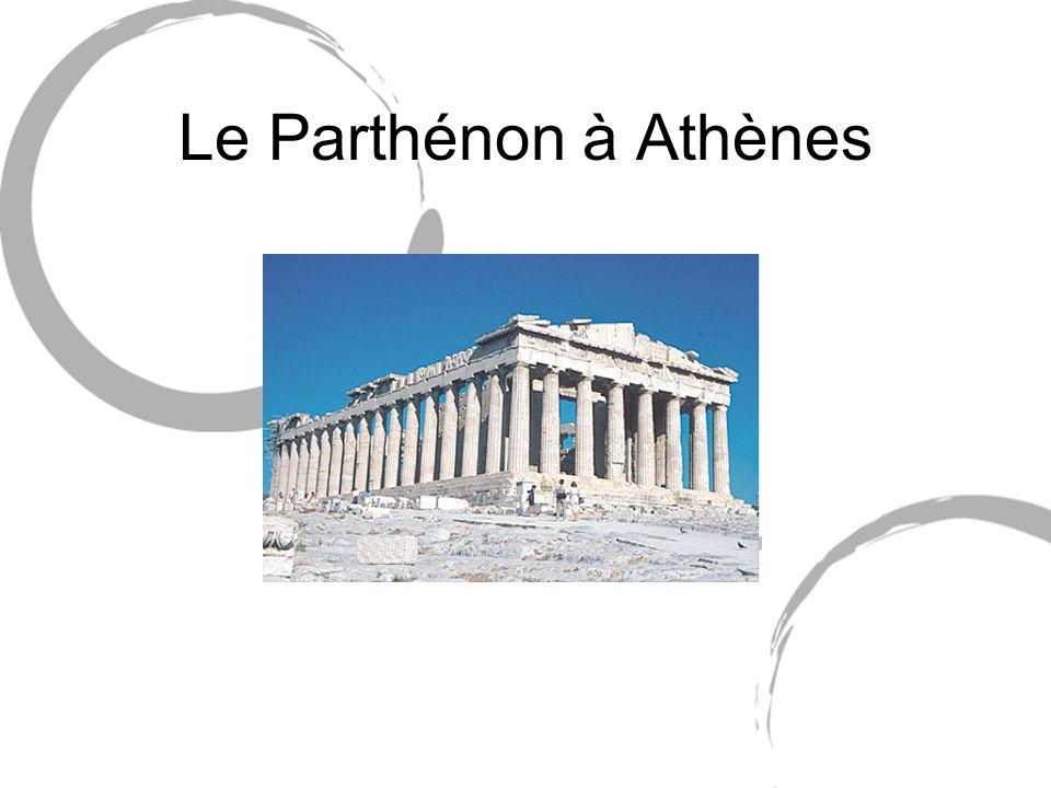 Introduction Aux V° et IV° siècles avant J.C., Athènes est la capitale artistique du monde grec.