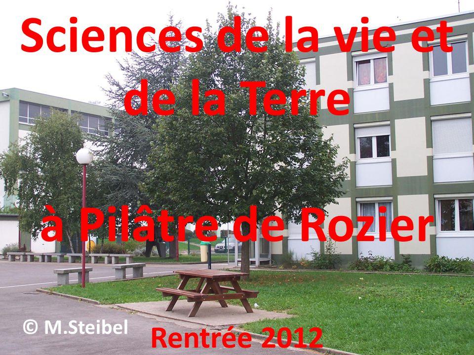 Sciences de la vie et de la Terre à Pilâtre de Rozier Rentrée 2012 © M.Steibel