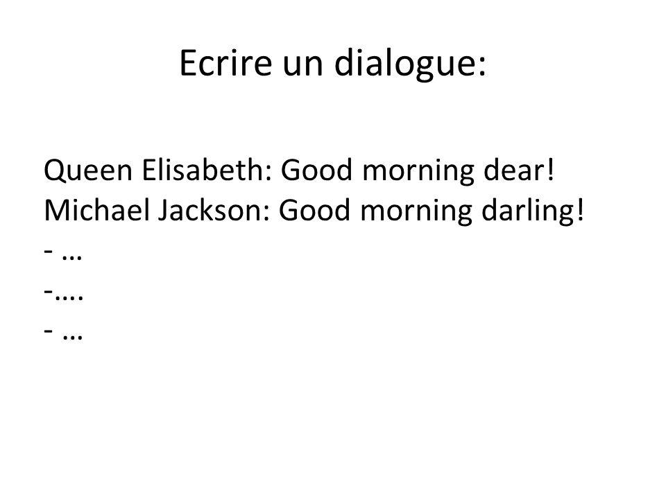Les différents types de sujet: Ecrire un dialogue.