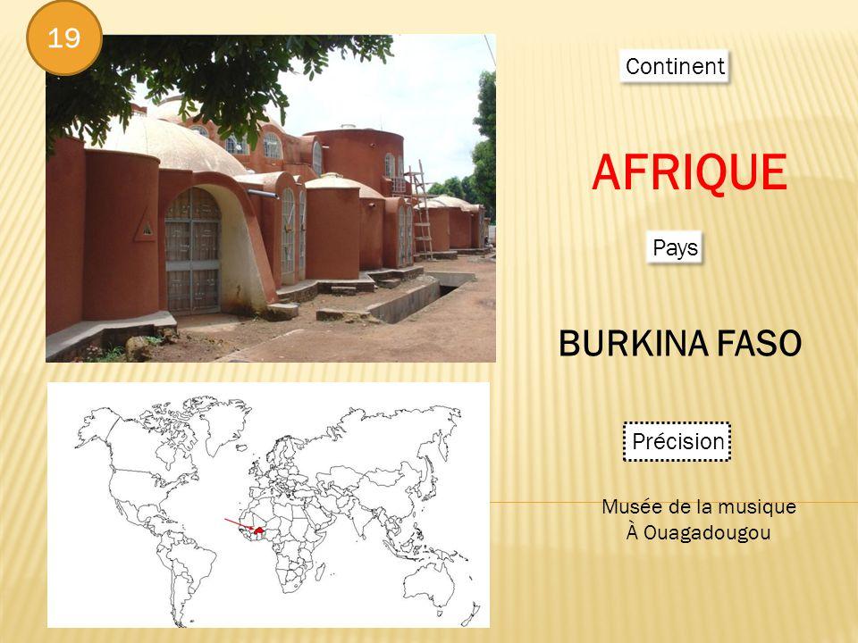 Continent AFRIQUE Pays BURKINA FASO Précision Musée de la musique À Ouagadougou 19