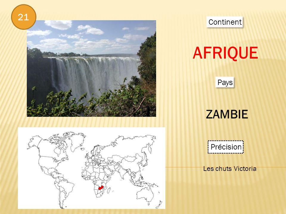 Continent AFRIQUE Pays ZAMBIE Précision Les chuts Victoria 21