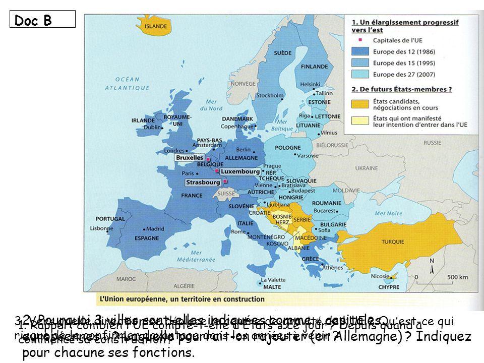 L Union europ é enne cest plus de 502 millions d habitants r é partis sur plus de 4,3 millions de km ² mais aussi 20% du PIB mondial; et c est un espace qui exerce une influence sur le monde en diffusant les valeurs des Droits de l Homme et de coop é ration.