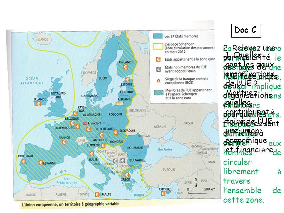 Doc C 1.Quelles sont les deux organisations de l UE .