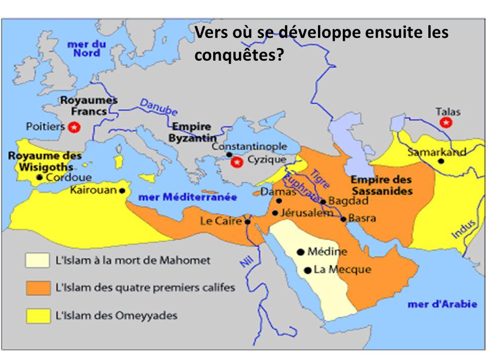 Vers où se développe ensuite les conquêtes?