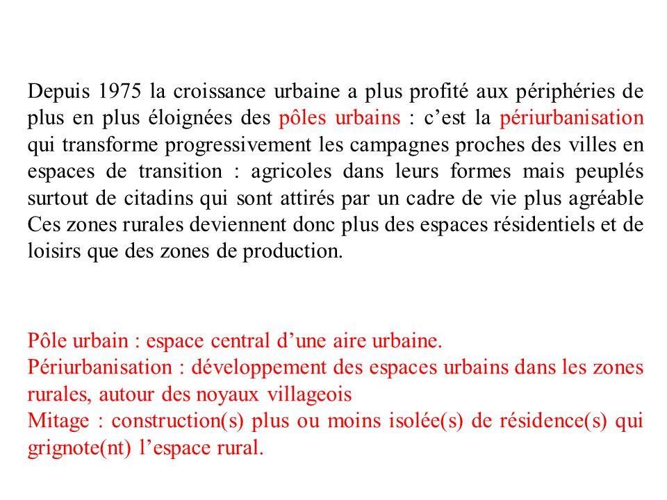 CL Les espaces ruraux représentent 60 % du territoire mais seulement 18 % de la population..