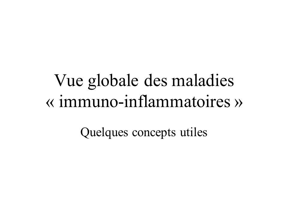 Vue globale des maladies « immuno-inflammatoires » Quelques concepts utiles