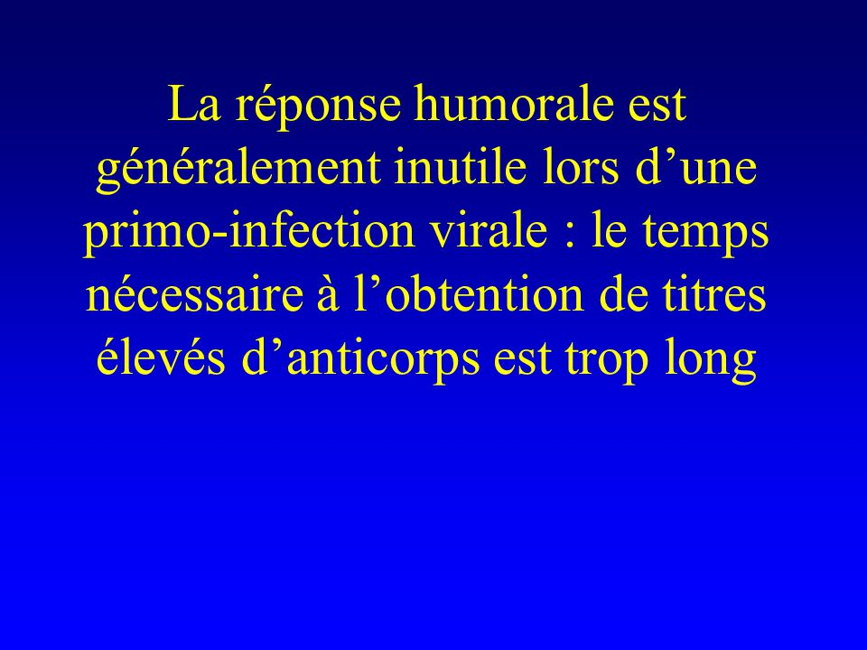 … par contre, lobtention dun titre élevé danticorps spécifiques (par exemple IgA) après une première infection ou un vaccin peut être protectrice