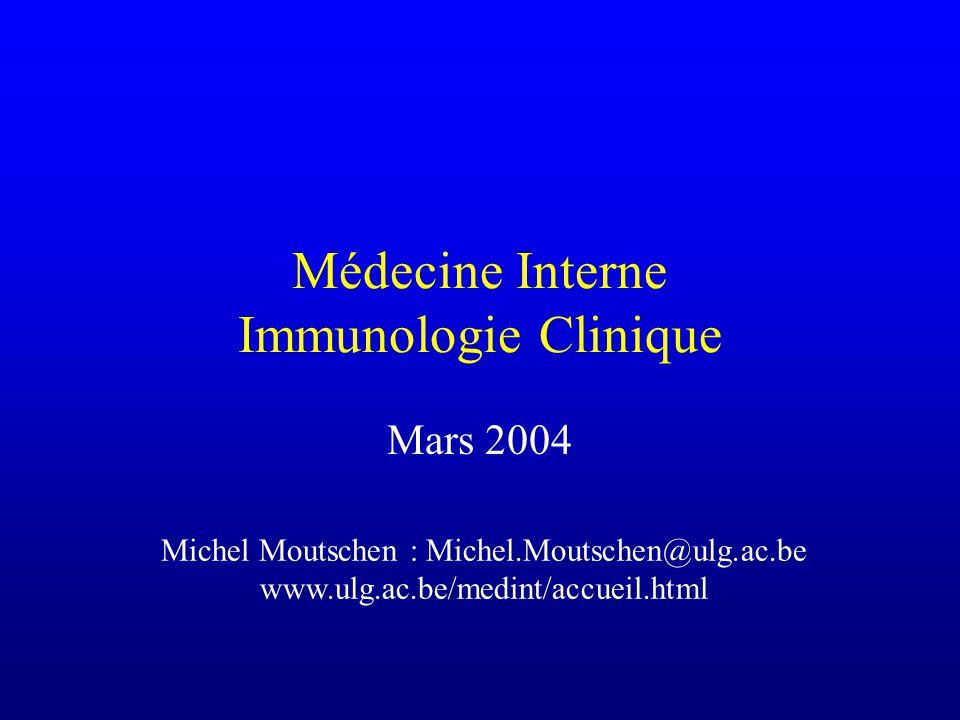 Traitement des hypogammaglobulinémies Immunoglobulines par voie intraveineuse (0.4 à 0.5 g/kg) Toutes les 3 à 4 semaines Viser une concentration résiduelle dIgG supérieure à 5g/l