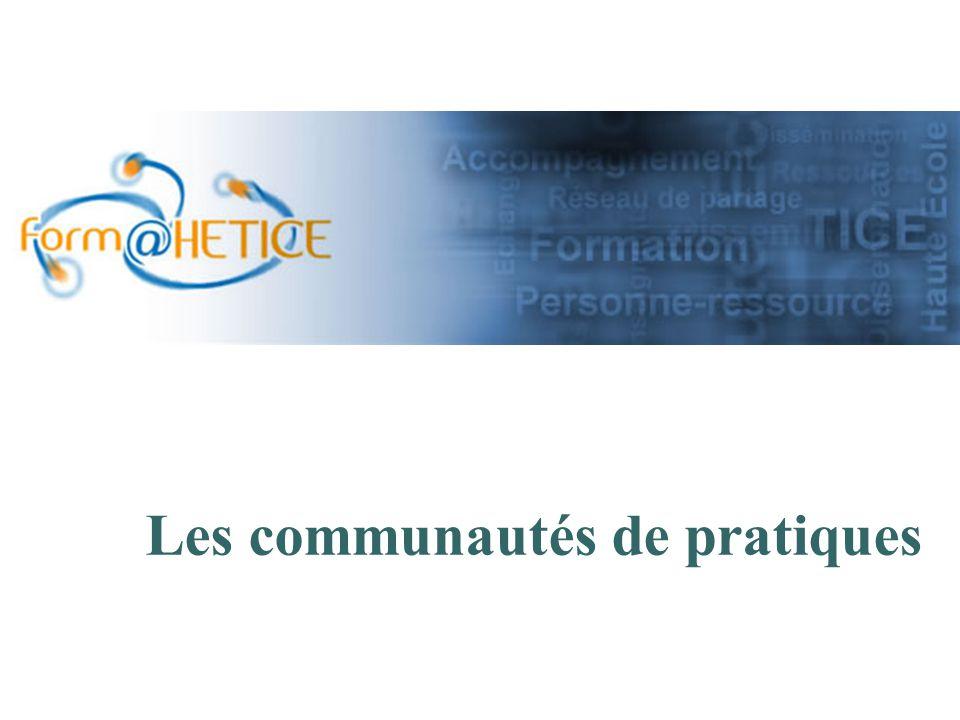 Les communautés de pratiques