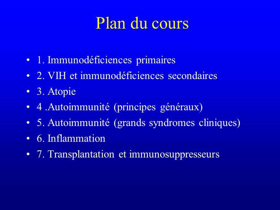 Immunopathologie Michel Moutschen 2001-2002
