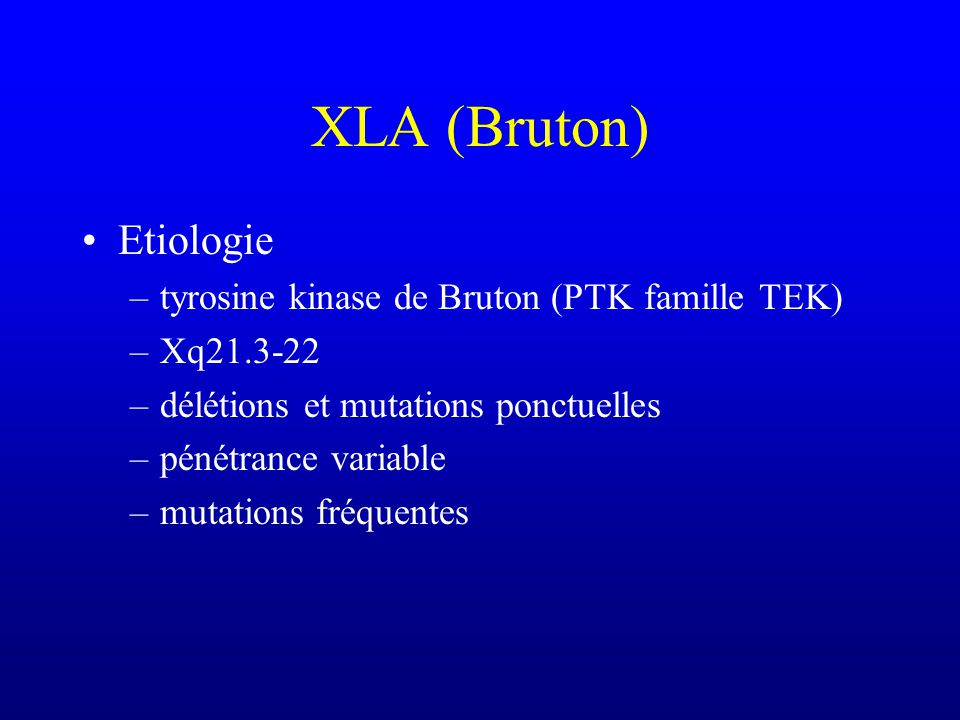 tyrosine kinase de Bruton