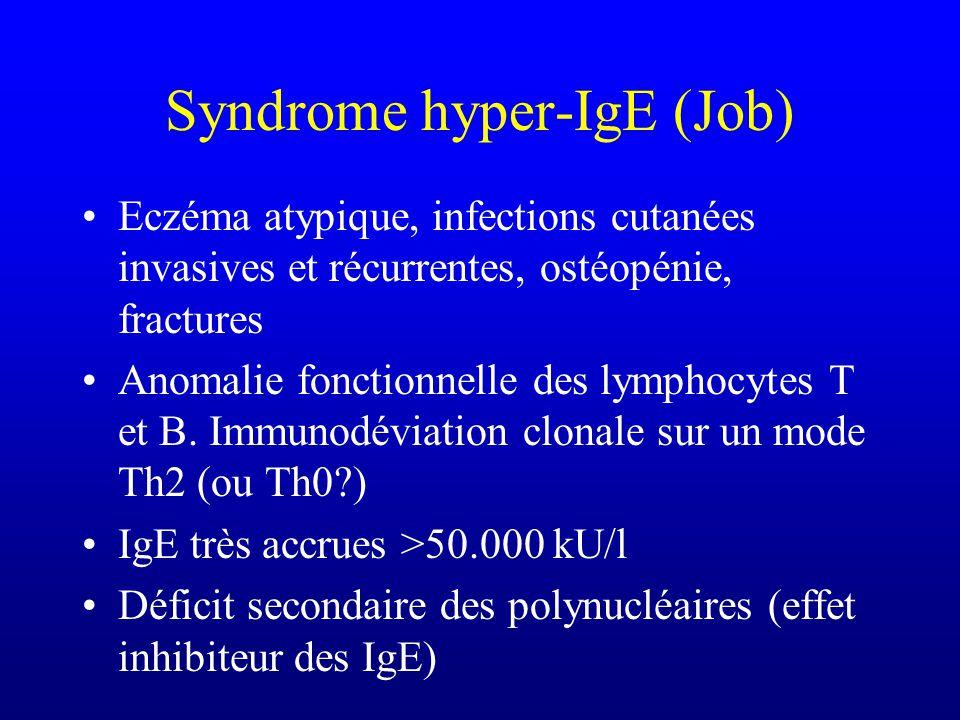 Hypogammaglobulinémie transitoire de lenfant Fréquente dans les familles où existent des hypogammaglobulinémies 6 mois à 36 mois Valeurs basses dIgG e
