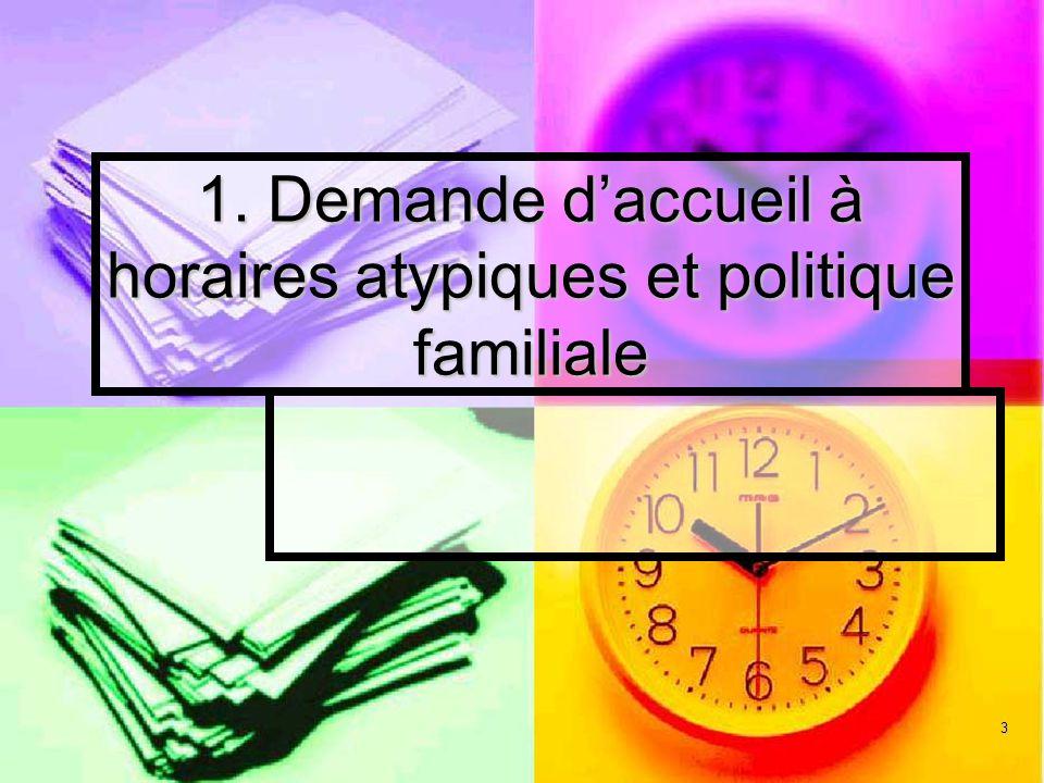 3 1. Demande daccueil à horaires atypiques et politique familiale
