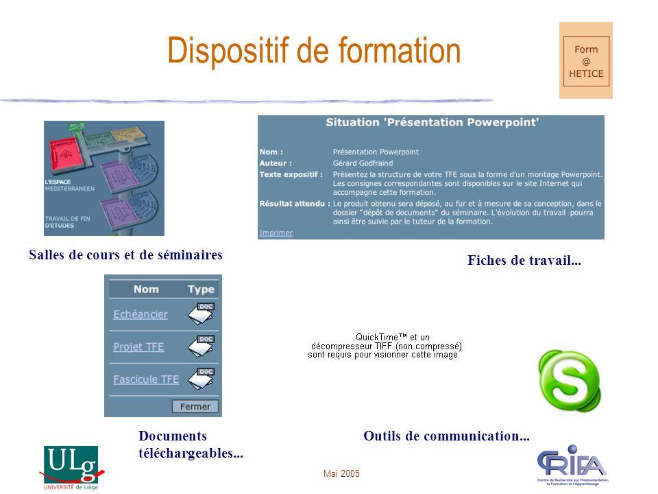 Mai 2005 Dispositif de formation Documents téléchargeables...