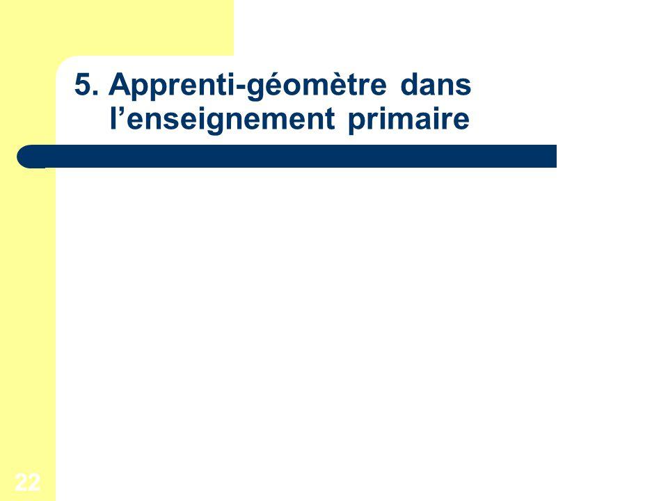 22 5. Apprenti-géomètre dans lenseignement primaire