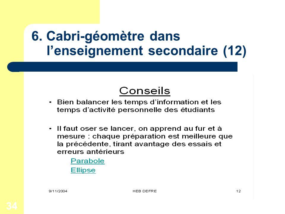34 6. Cabri-géomètre dans lenseignement secondaire (12)